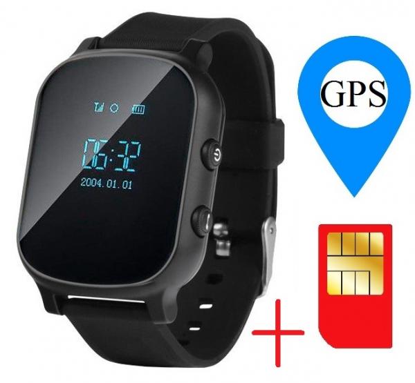 Ceas smartwatch GPS copii sau adultii MoreFIT™ GW700, cu GPS si functie telefon,Wi-Fi, monitorizare spion, buton SOS, Negru +SIM prepay cadou [2]