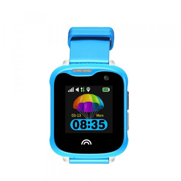 Ceas smartwatch GPS copii sau adultii MoreFIT™ KT05, cu GPS si functie telefon,Wi-Fi, monitorizare spion, buton SOS, Albastru [0]