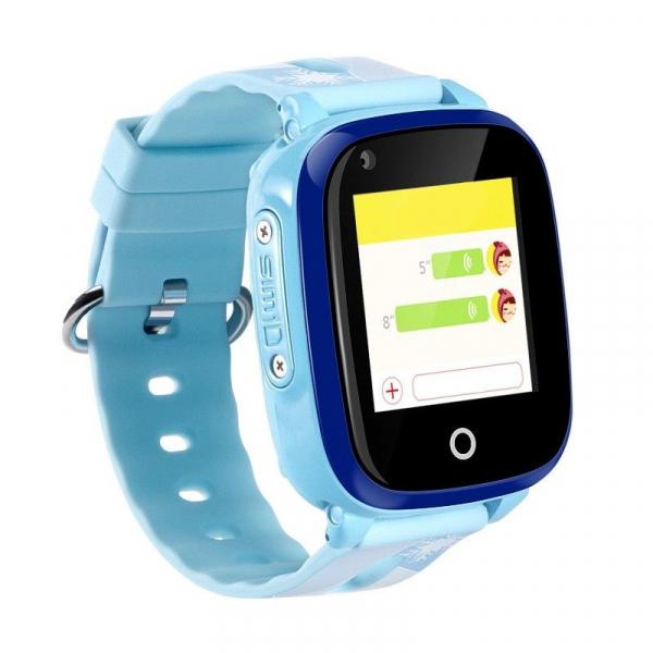 Ceas smartwatch GPS copii sau adultii MoreFIT™ KT10, cu GPS si functie telefon,Wi-Fi, monitorizare spion, buton SOS, albastru [0]