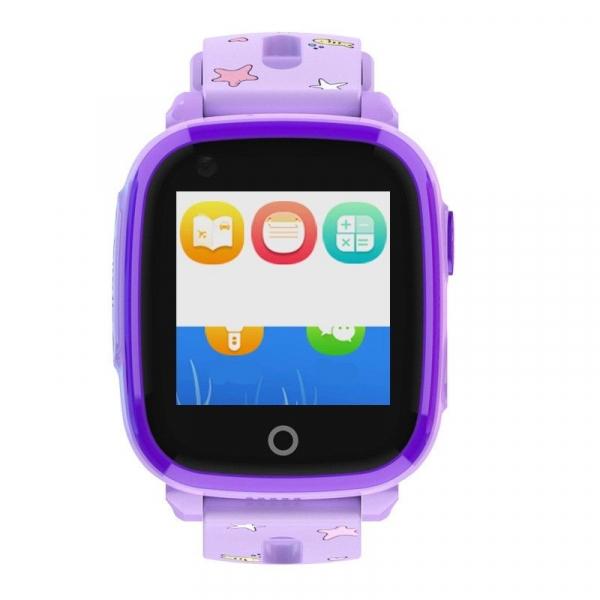 Ceas smartwatch GPS copii sau adultii MoreFIT™ KT10, cu GPS si functie telefon,Wi-Fi, monitorizare spion, buton SOS, Lila [0]