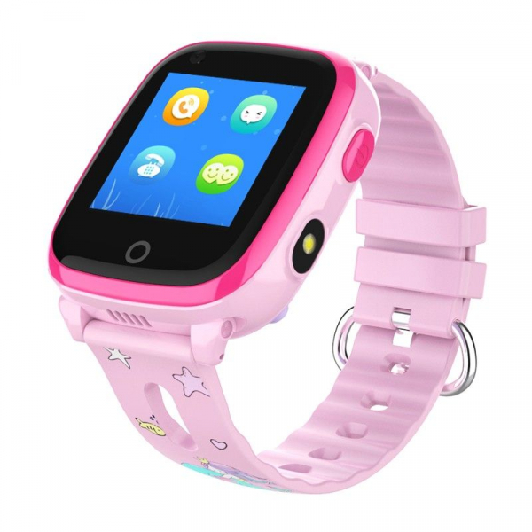 Ceas smartwatch GPS copii sau adultii MoreFIT™ KT10, cu GPS si functie telefon,Wi-Fi, monitorizare spion, buton SOS, roz [0]