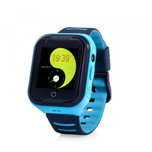 Ceas smartwatch GPS copii sau adultii MoreFIT™ KT11, cu GPS si functie telefon,Wi-Fi, monitorizare spion, buton SOS, albastru 0