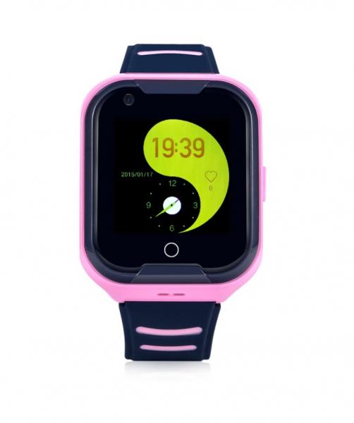 Ceas smartwatch GPS copii sau adultii MoreFIT™ KT11, cu GPS si functie telefon,Wi-Fi, monitorizare spion, buton SOS, pink [0]