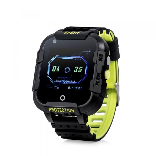 "Ceas smartwatch GPS copii sau adultii MoreFIT™ KT12, GPS, apelare video, 4G, camera 2MP, Wi-FI si functie telefon, ecran touchscreen 1.4"", buton SOS, negru + SIM prepay cadou 0"