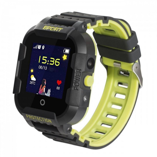 "Ceas smartwatch GPS copii sau adultii MoreFIT™ KT12, GPS, apelare video, 4G, camera 2MP, Wi-FI si functie telefon, ecran touchscreen 1.4"", buton SOS, negru + SIM prepay cadou 1"