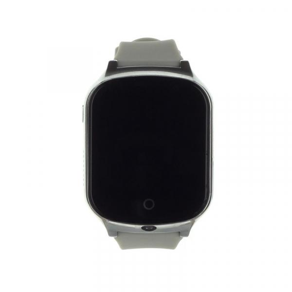Ceas smartwatch GPS copii si adulti MoreFIT™ GW1000s 3G, cu GPS si functie telefon, camera 1.3MP, Wi-Fi, bluetooth, buton SOS, ecran touchscreen 1.54 inch, monitorizare spion, argintiu si curea din si 1