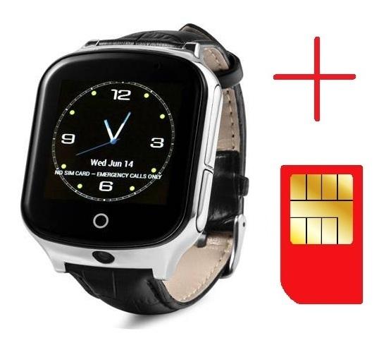 Ceas smartwatch GPS copii si adulti MoreFIT™ GW1000s 3G, cu GPS si functie telefon, camera 1.3MP, Wi-Fi, bluetooth, buton SOS, ecran touchscreen 1.54 inch, monitorizare spion, argintiu si curea din pi 1