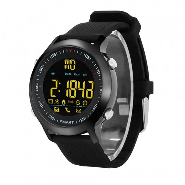 Ceas Smartwatch MoreFIT™ EX18 Plus, BT 4.0, autonomie baterie extra pana la 20 luni, sport , notificari apeluri, sms, negru 0