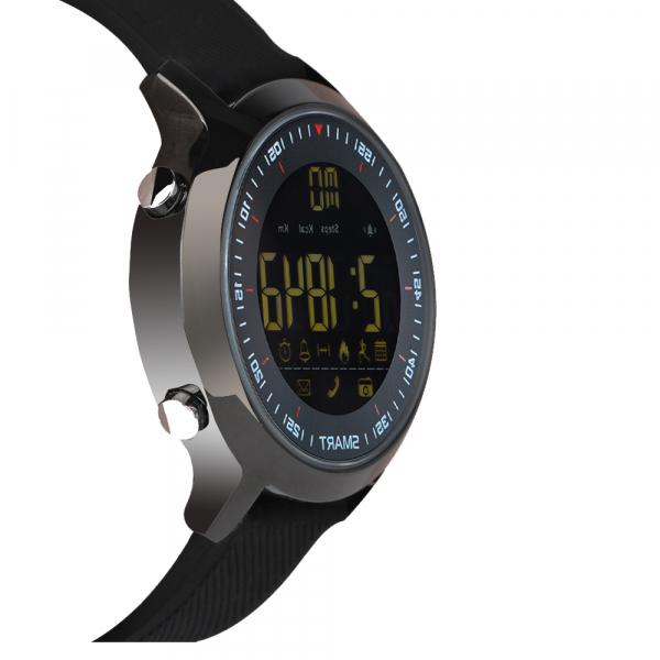 Ceas Smartwatch MoreFIT™ EX18 Plus, BT 4.0, autonomie baterie extra pana la 20 luni, sport , notificari apeluri, sms, negru 2
