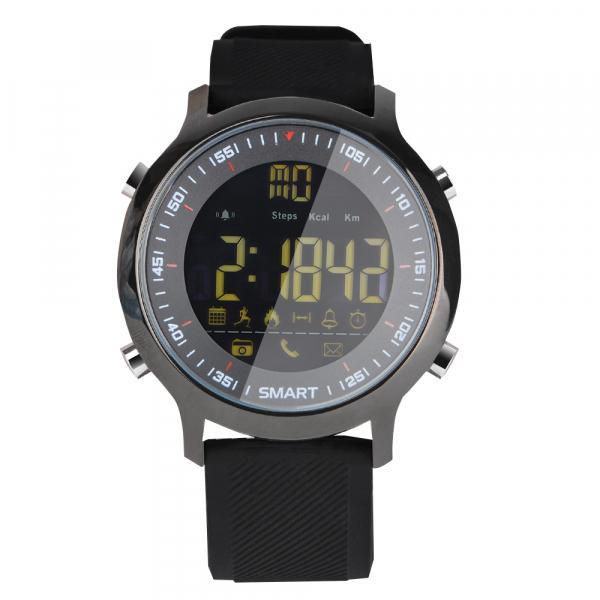Ceas Smartwatch MoreFIT™ EX18 Plus, BT 4.0, autonomie baterie extra pana la 20 luni, sport , notificari apeluri, sms, negru 1