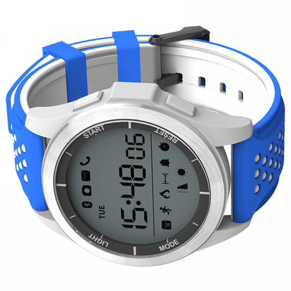 Ceas Smartwatch MoreFIT™ F3 Plus Sport, autonomie 12 luni, rezistent la apa ip67, Android/iOS, notificari apeluri, sms, barometru, altitudine, alb/albastru 3