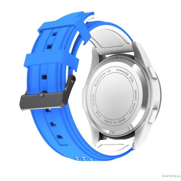 Ceas Smartwatch MoreFIT™ F3 Plus Sport, autonomie 12 luni, rezistent la apa ip67, Android/iOS, notificari apeluri, sms, barometru, altitudine, alb/albastru 2