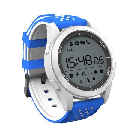 Ceas Smartwatch MoreFIT™ F3 Plus Sport, autonomie 12 luni, rezistent la apa ip67, Android/iOS, notificari apeluri, sms, barometru, altitudine, alb/albastru 1