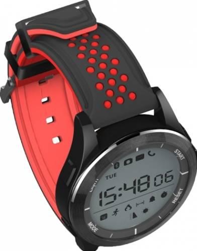 Ceas Smartwatch MoreFIT™ F3S Plus Sport, autonomie 12 luni, rezistent la apa ip67, Android/iOS, notificari apeluri, sms, barometru, altitudine, negru/rosu 1
