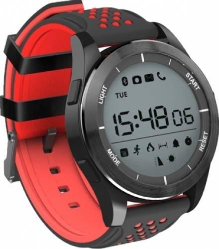 Ceas Smartwatch MoreFIT™ F3S Plus Sport, autonomie 12 luni, rezistent la apa ip67, Android/iOS, notificari apeluri, sms, barometru, altitudine, negru/rosu 4