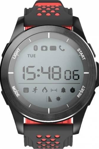 Ceas Smartwatch MoreFIT™ F3S Plus Sport, autonomie 12 luni, rezistent la apa ip67, Android/iOS, notificari apeluri, sms, barometru, altitudine, negru/rosu 2