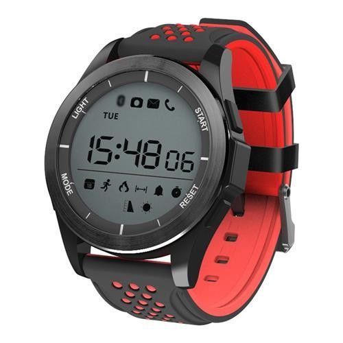 Ceas Smartwatch MoreFIT™ F3S Plus Sport, autonomie 12 luni, rezistent la apa ip67, Android/iOS, notificari apeluri, sms, barometru, altitudine, negru/rosu 0