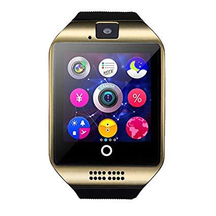 "Ceas Smartwatch MoreFIT™  Q18 Plus Pro, cu sim, display 1.54"", camera foto, carcasa metalica, ecran curbat, NFC, BT 3.0, auriu 1"