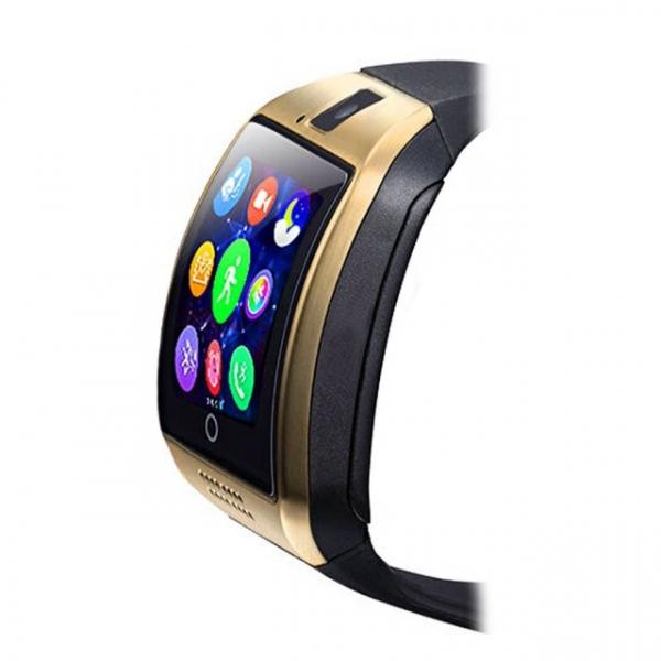 "Ceas Smartwatch MoreFIT™  Q18 Plus Pro, cu sim, display 1.54"", camera foto, carcasa metalica, ecran curbat, NFC, BT 3.0, auriu 2"