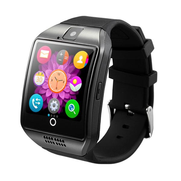 """Ceas Smartwatch MoreFIT™  Q18 Plus Pro, cu sim, display 1.54"""", camera foto, carcasa metalica, ecran curbat, NFC, BT 3.0, negru/negru [1]"""
