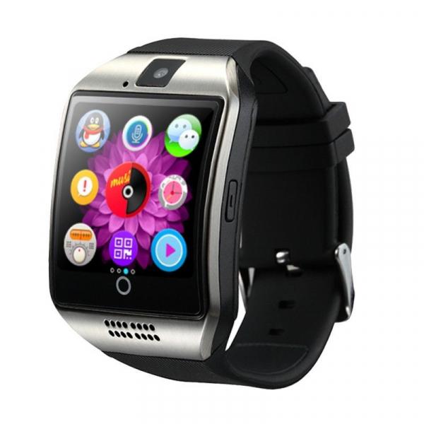 "Ceas Smartwatch MoreFIT™  Q18 Plus Pro, cu sim, display 1.54"", camera foto, carcasa metalica, ecran curbat, NFC, BT 3.0, silver 0"