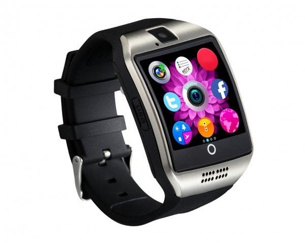 "Ceas Smartwatch MoreFIT™  Q18 Plus Pro, cu sim, display 1.54"", camera foto, carcasa metalica, ecran curbat, NFC, BT 3.0, silver 1"