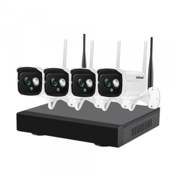 Kit supraveghere video Sricam™ NVS002 WI-FI, 2MP FullHD 1080p, rezistent la apa, hotspot, NVR, night vision 0