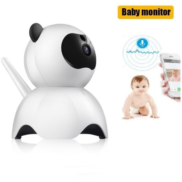 Set Baby Monitor Wireless BabyToy™ AR18 , monitorizare video audio bebelusi , vedere nocturna, sunet bidirectional, functie push to talk, rotire automata, FullHD 1920*1080, camera 2.0 MP, senzor misca 3
