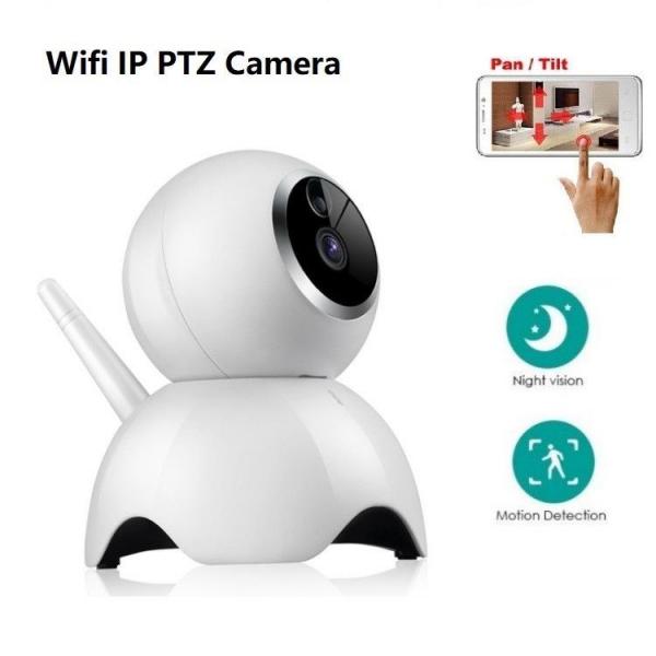 Set Baby Monitor Wireless BabyToy™ AR19 , monitorizare video audio bebelusi , vedere nocturna, sunet bidirectional, functie push to talk, rotire automata, HD 1280*720, 1.0 MP, senzor miscare, alb + st 4