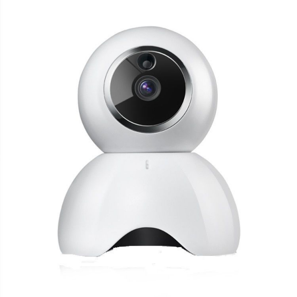 Set Baby Monitor Wireless BabyToy™ AR19 , monitorizare video audio bebelusi , vedere nocturna, sunet bidirectional, functie push to talk, rotire automata, HD 1280*720, 1.0 MP, senzor miscare, alb + st 1