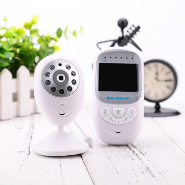 Set Baby Monitor Wireless BabyToy™ BM108 , Monitorizare Video Audio Bebelusi , Monitorizare Temperatura , Vedere Nocturna Color, Audio-Video, Sunet bidirectional, Functie Push to Talk, Rotire 360 , Ca 3