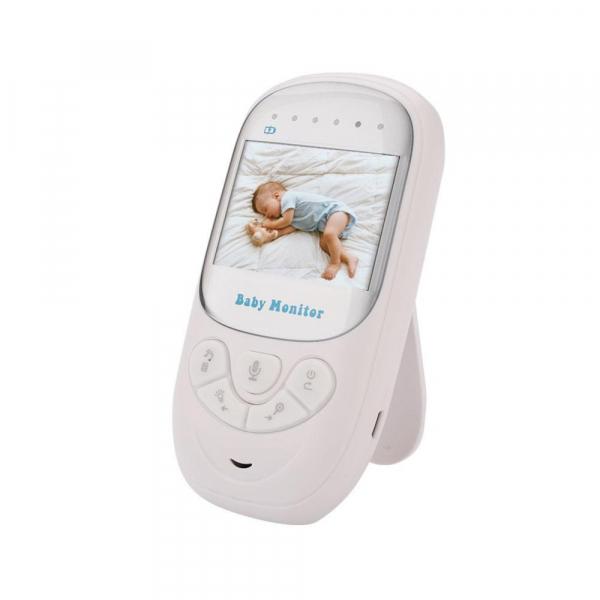 Set Baby Monitor Wireless BabyToy™ BM108 , Monitorizare Video Audio Bebelusi , Monitorizare Temperatura , Vedere Nocturna Color, Audio-Video, Sunet bidirectional, Functie Push to Talk, Rotire 360 , Ca 1