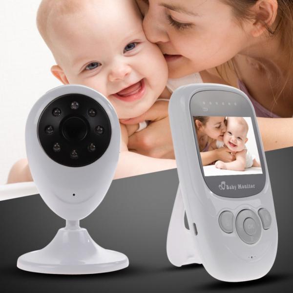 Set Baby Monitor Wireless BabyToy™ SP880 Plus , Monitorizare Video Audio Bebelusi , Monitorizare Temperatura , Vedere Nocturna, Audio-Video, Sunet bidirectional, Functie Push to Talk, 8 Cantece de lea [4]