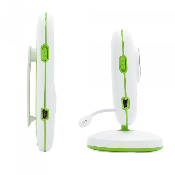 Set Baby Monitor Wireless BabyToy™ VB602 Plus , Monitorizare Video Audio Bebelusi , Monitorizare Temperatura , Vedere Nocturna, Audio-Video, Sunet bidirectional, Functie Push to Talk, 8 Cantece de lea 4