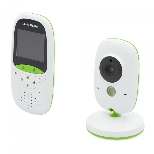 Set Baby Monitor Wireless BabyToy™ VB602 Plus , Monitorizare Video Audio Bebelusi , Monitorizare Temperatura , Vedere Nocturna, Audio-Video, Sunet bidirectional, Functie Push to Talk, 8 Cantece de lea 3