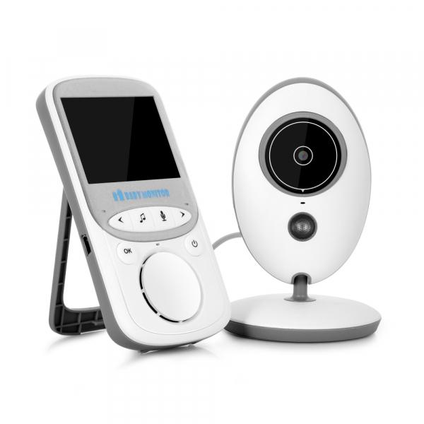 Set Baby Monitor Wireless BabyToy™ VB605 Plus , Cu baterie , Monitorizare Video Audio Bebelusi , Monitorizare Temperatura , Vedere Nocturna, Audio-Video, Sunet bidirectional, Functie Push to Talk, 8 C 1