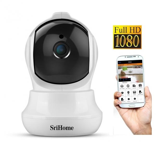Set Baby Monitor Wireless Sricam™ SH020 Plus SriHome, FullHD 2MP, Monitorizare Video Audio Bebelusi , Auto Tracking, Vedere Nocturna, Audio-Video, Sunet bidirectional, Rotire automata, rezolutie 1920* 0