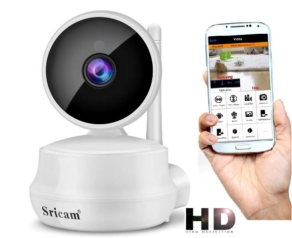 Set Baby Monitor Wireless Sricam™ SP025 Plus, Monitorizare Video Audio Bebelusi , Vedere Nocturna, Audio-Video, Sunet bidirectional, Functie Push to Talk, Rotire automata, HD 1280*720, 1.0 MP, senzor  0