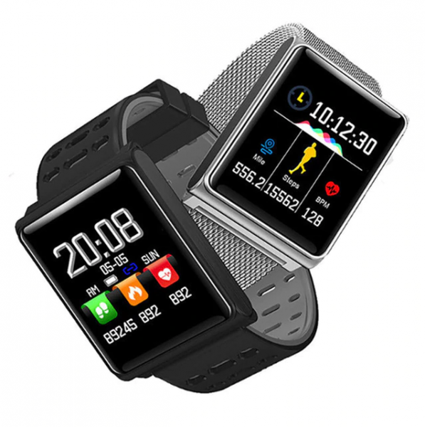 Set Bratara fitness MoreFIT™ N98, BT 4.0, Display color fulltouch, tensiune, puls dinamic, pedometru, calorii, notificare apel/mesaje/aplicatii, vibratii, monitorizare somn, rezistenta la apa ip67, st 1