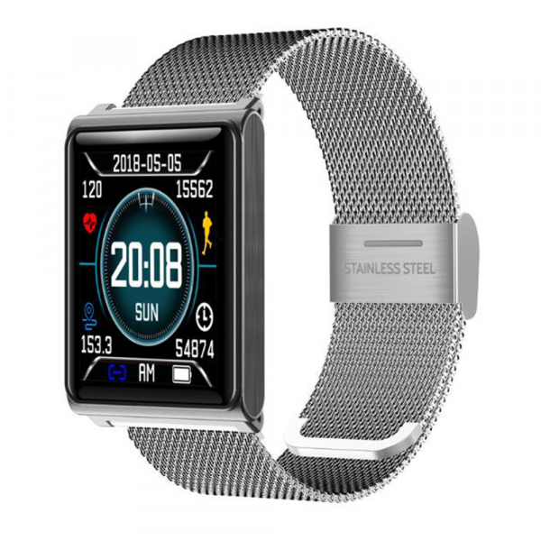 Set Bratara fitness MoreFIT™ N98, BT 4.0, Display color fulltouch, tensiune, puls dinamic, pedometru, calorii, notificare apel/mesaje/aplicatii, vibratii, monitorizare somn, rezistenta la apa ip67, st 0