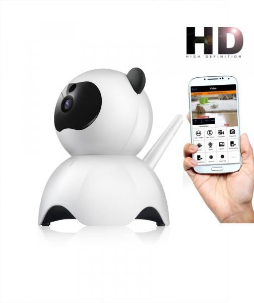 """Set Camera de supraveghere IP WIFI BabyToy™ AG18 , Conectare Telefon / PC , Night vision, Rotire automata, FullHD 1920*1080, camera 2.0 MP, senzor miscare, alb + sticker """"obiectiv supravegheat video"""" [0]"""