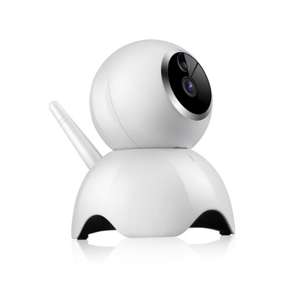"""Set Camera de supraveghere IP WIFI BabyToy™ AG19 , Conectare Telefon / PC, Night vision, Rotire automata, HD 1280*720, camera 1.0 MP, senzor miscare, alb + sticker """"obiectiv supravegheat video"""" 2"""