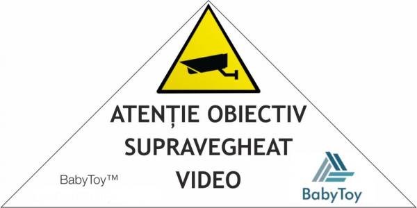 """Set Camera de supraveghere IP WIFI BabyToy™ AG24 , Full HD 2MP, Night vision, Conectare telefon / PC , Rotire automata, rezolutie 1920*1080 , senzor miscare, alb + sticker """"obiectiv supravegheat video 4"""