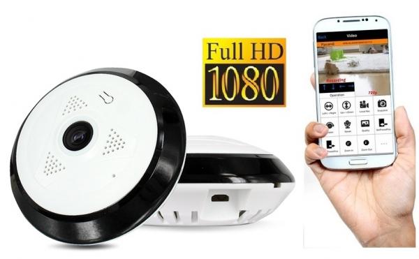 Set Camera de supraveghere IP WIFI BabyToy™ AR-P7 mini , Full HD 3MP, Night vision, Conectare telefon / PC , Vedere panoramica 360° 3D, Senzor miscare, Alarma, Comunicare audio bidirectionala, stocare [0]