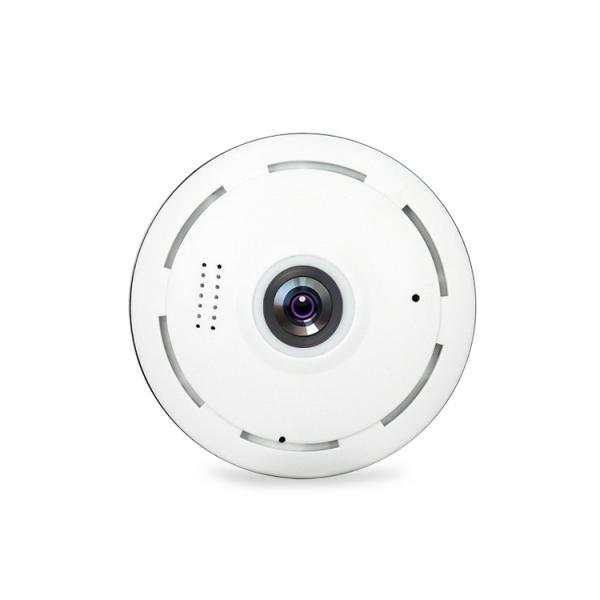 Set Camera de supraveghere IP WIFI BabyToy™ AR-P8 mini , Full HD 3MP, Night vision, Conectare telefon / PC , Vedere panoramica 360° 3D, Senzor miscare, Alarma, Comunicare audio bidirectionala, stocare 1