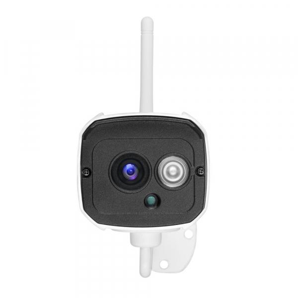 """Set Camera de supraveghere IP WIFI Sricam™ SH024 Plus SriHome Exterior , FullHD 2MP 1080p, Conectare Telefon / PC , night vision , rezistenta la apa, senzor miscare, alb + sticker """"obiectiv supraveghe 2"""