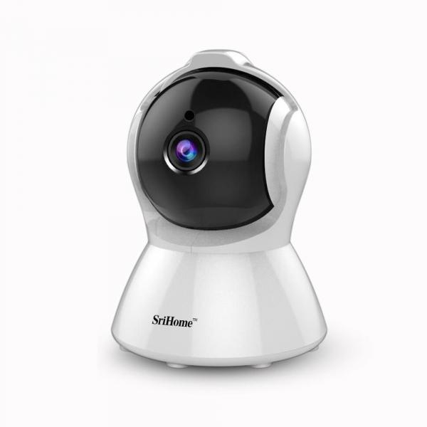 Set Camera de supraveghere IP WIFI Sricam™ SH025 Plus SriHome , FullHD 2MP , Auto Tracking , Conectare Telefon / PC , Night vision, Rotire automata rapida, rezolutie 1920*1080, senzor miscare, hotspot [3]