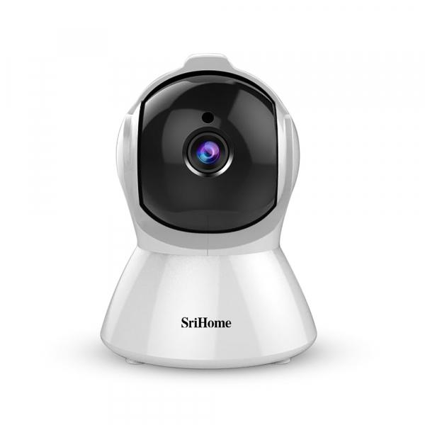 Set Camera de supraveghere IP WIFI Sricam™ SH025 Plus SriHome , FullHD 2MP , Auto Tracking , Conectare Telefon / PC , Night vision, Rotire automata rapida, rezolutie 1920*1080, senzor miscare, hotspot [1]