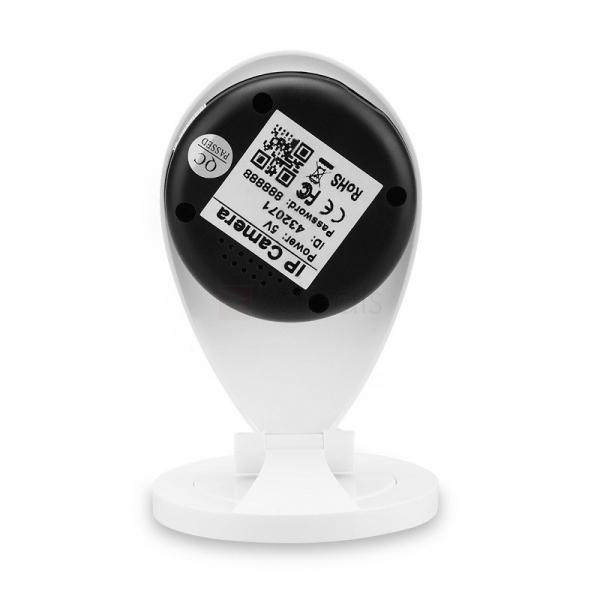 "Set Camera de supraveghere IP WIFI Sricam™ SP009 Plus, Conectare Telefon / PC , Night vision, Notificare pe mail, Sunet bidirectional,  HD 1280*720, camera 1.0 MP, senzor miscare + sticker ""obiectiv s 4"