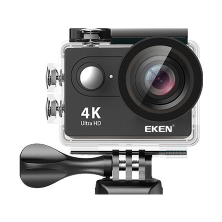 "Set Camera Video Sport Eken H9R Black 4k@25fps, Wifi, 2""LCD, telecomanda, accesorii, carcasa waterproof, negru + sticker ""obiectiv supravegheat video"" 1"
